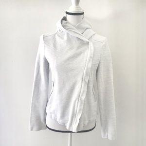 Anthropologie White asymmetrical hoodie jacket